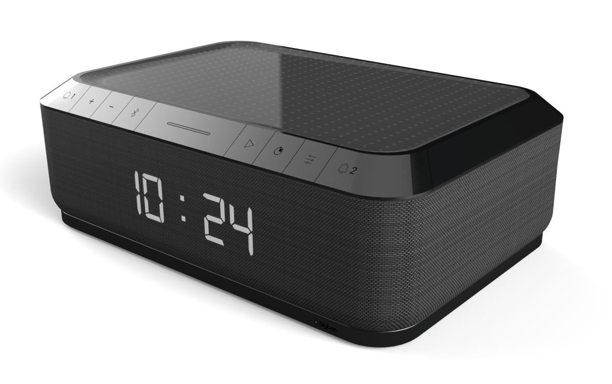 BIGBEN Ξυπνητήρι RR140IG, FM radio, Alarm, Ασύρματη φόρτιση, μαύρο - BIGBEN 21708