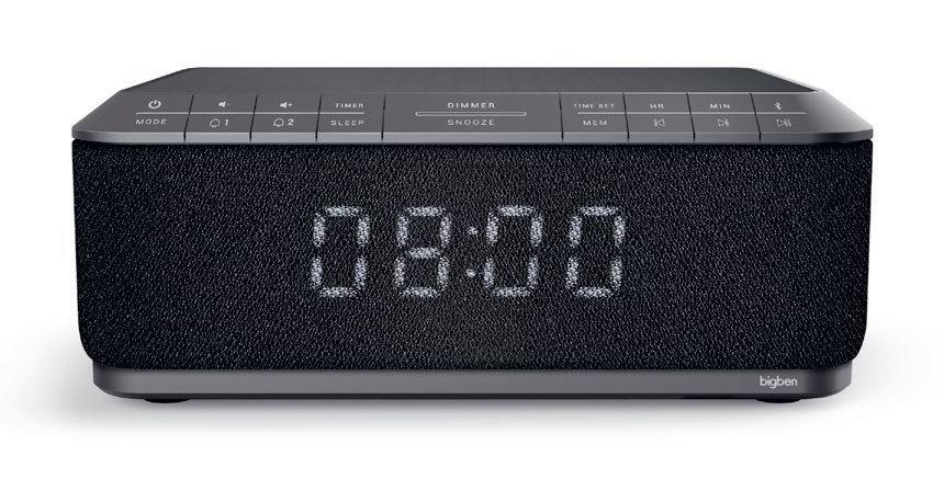 BIGBEN ξυπνητήρι RR140INBT, bluetooth, FM Radio, Ασύρματη φόρτιση, μαύρο - BIGBEN 22160