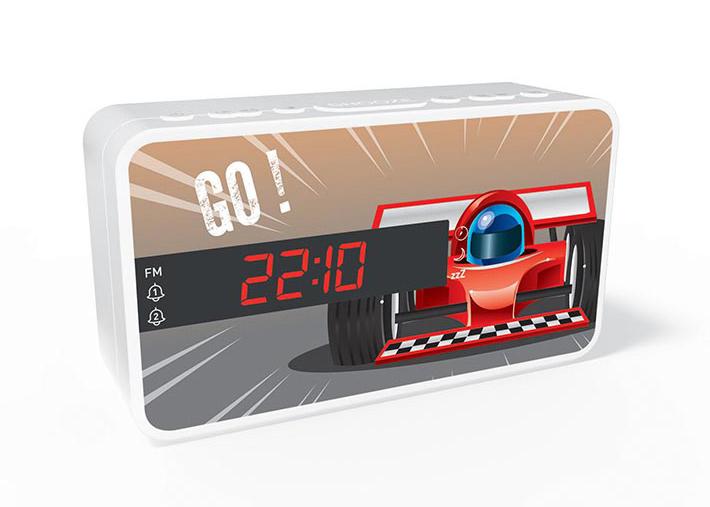 BIGBEN Ξυπνητήρι RR15CAR, Dual alarm, FM Radio, LED display, λευκό - BIGBEN 20469