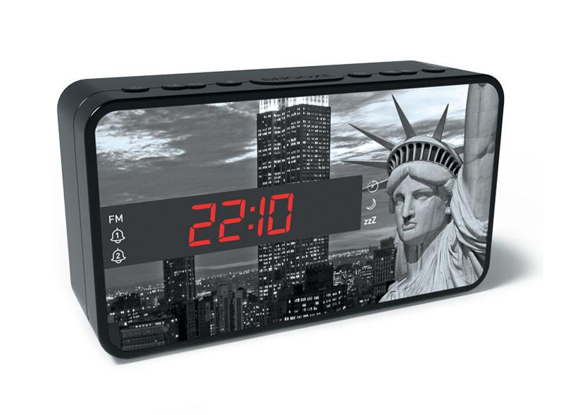 BIGBEN Ξυπνητήρι RR15LIBERTY, Dual alarm, FM Radio, LED display, λευκό - BIGBEN 20470