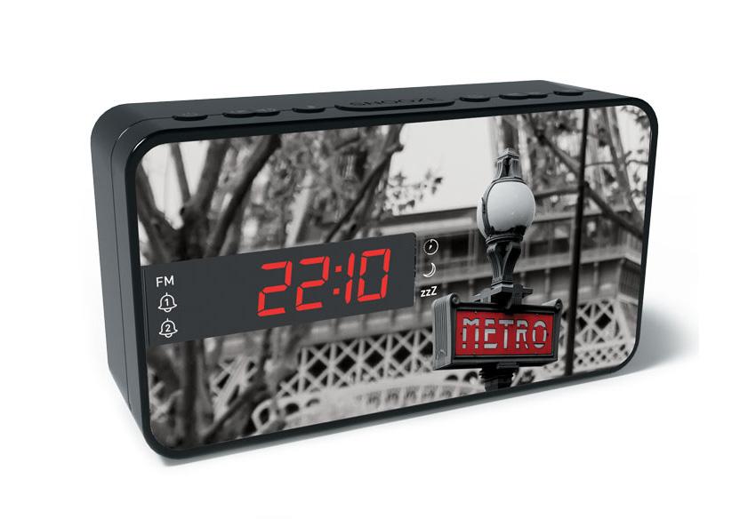 BIGBEN Ξυπνητήρι RR15METRO, Dual alarm, FM Radio, LED display, μαύρο - BIGBEN 20471