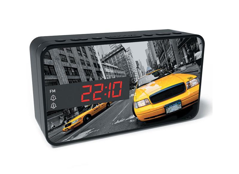 BIGBEN Ξυπνητήρι RR15TAXI, Dual alarm, FM Radio, LED display, μαύρο - BIGBEN 20472