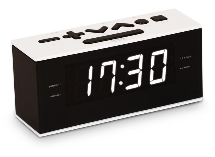 BIGBEN Ξυπνητήρι RR60NG, FM radio, Dual alarm, λευκό - BIGBEN 21707