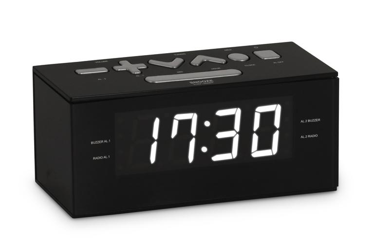 BIGBEN Ξυπνητήρι RR60NG, FM radio, Dual alarm, μαύρο - BIGBEN 19747