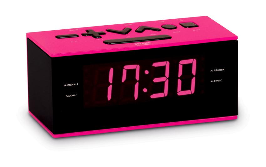 BIGBEN Ξυπνητήρι RR60RSN, FM radio, Dual alarm, ροζ - BIGBEN 19752