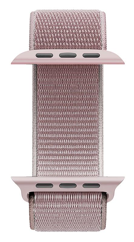 ROCKROSE nylon weave band Caveman για Apple Watch 42/44mm, ροζ - ROCKROSE 42653