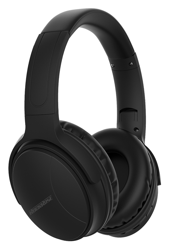 ROCKROSE headphones Reggae MH, wireless & wired, BT 5.0, μαύρα - ROCKROSE 36330