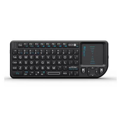 RIITEK Ασύρματο πληκτρολόγιο mini X1 με touchpad, 2.4GHz, μαύρο - RIITEK 5906