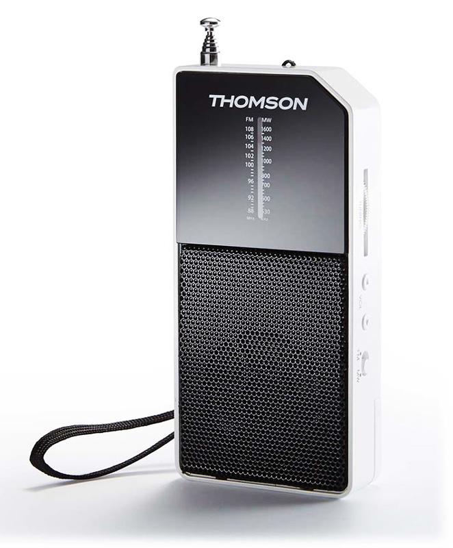 THOMSON Ραδιόφωνο τσέπης RT205, αναλογικό, λευκό - THOMSON 18506