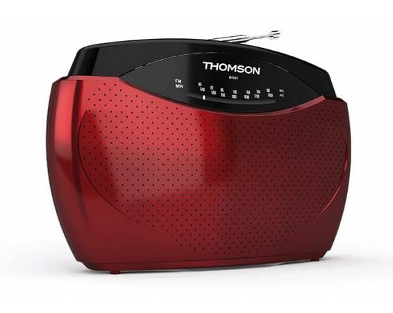 THOMSON Φορητό ραδιόφωνο RT223 FM/MW, κόκκινο - THOMSON 18508