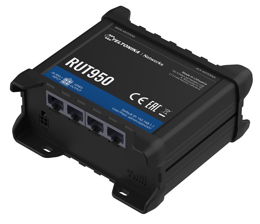 TELTONIKA industrial cellular router RUT950, 4G LTE Cat 4, Wi-Fi - TELTONIKA 33024