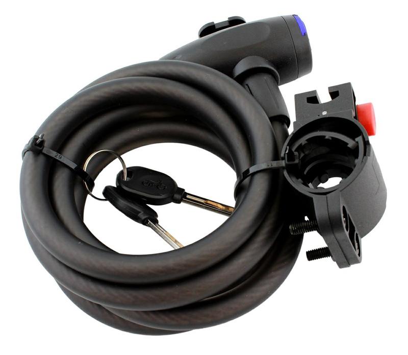 Κλειδαριά ασφαλείας με κλειδί RW19C, Φ4.5mm, 150cm - UNBRANDED 43389