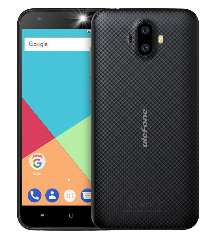 "ULEFONE Smartphone S7, 5"" HD, 1GB/8GB, Quad Core, Dual Cameras, Black - ULEFONE 16727"