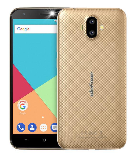 "ULEFONE Smartphone S7, 5"" HD, 1GB/8GB, Quad Core, Dual Cameras, Gold - ULEFONE 16726"