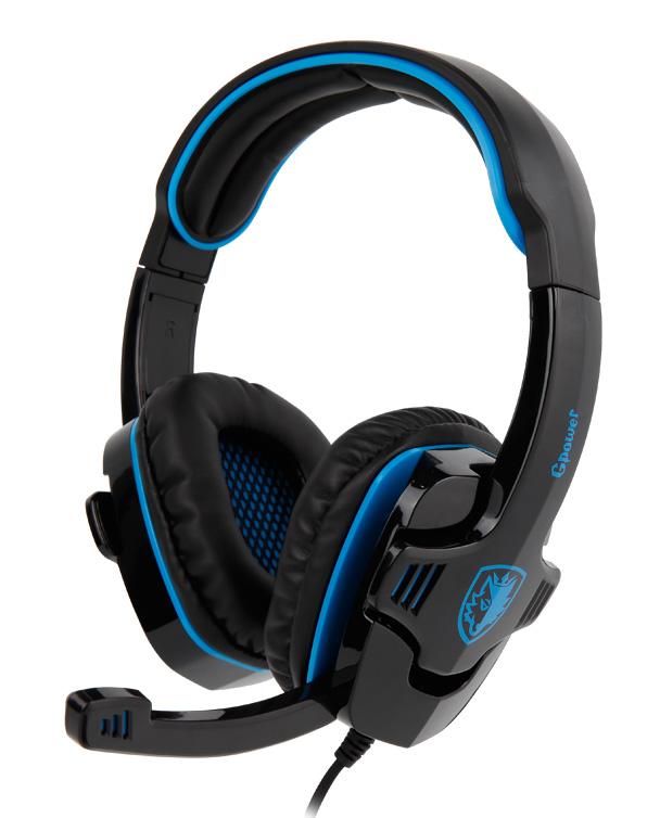 SADES Gaming Headset Gpower με 40mm πανίσχυρα ακουστικά, Blue - SADES 4554