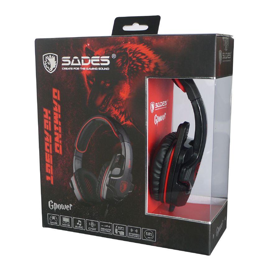 SADES Gaming Headset Gpower με 40mm πανίσχυρα ακουστικά, Red - SADES 4862
