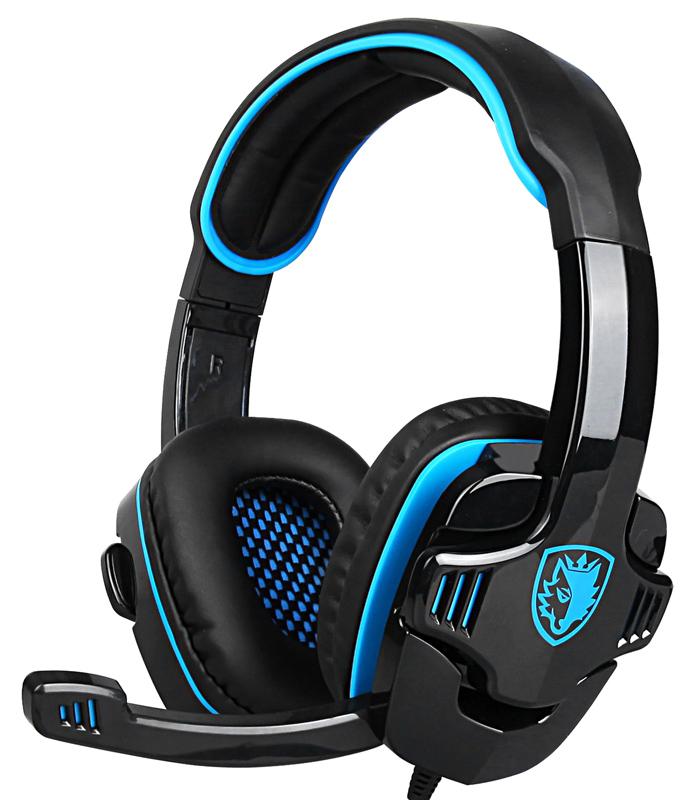 SADES gaming headset SA-708GT, 3.5mm, 40mm, μπλε - SADES 42852