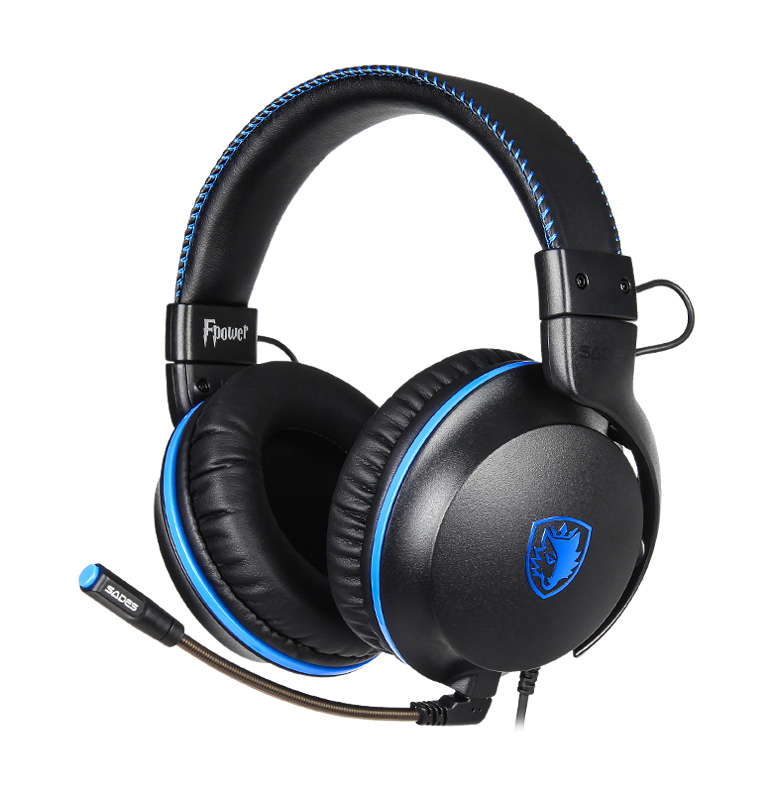 SADES Gaming Headset Fpower SA-717-BL, multiplatform, 3.5mm - SADES 26042