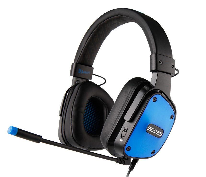 SADES Gaming Headset Dpower, 3.5mm, 40mm ακουστικά, Blue - SADES 13504