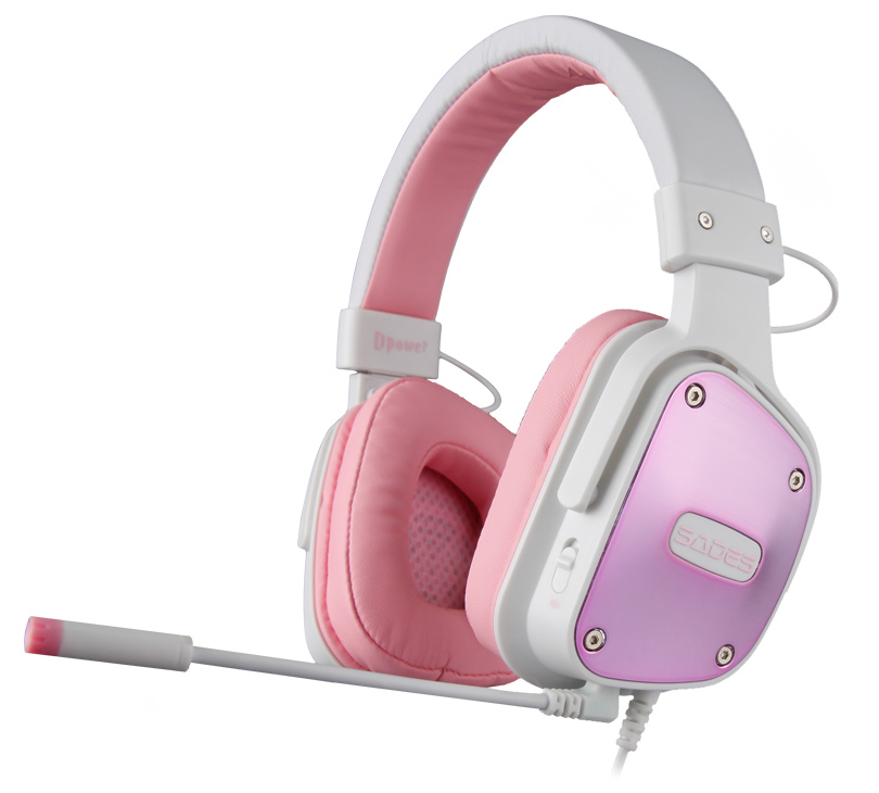SADES Gaming Headset Dpower, 3.5mm, 40mm ακουστικά, Pink - SADES 13505