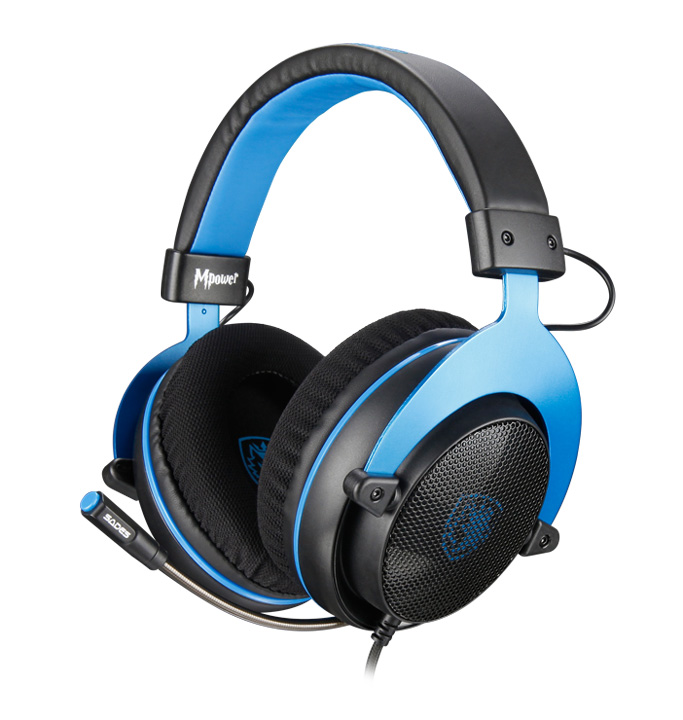 SADES Gaming Headset Mpower, Multiplatform, 3.5mm, 50mm ακουστικά, μπλε - SADES 19199