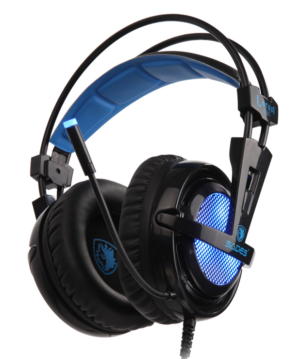 SADES Gaming Headset Locust Plus, USB, 7.1CH με 40mm ακουστικά - SADES 16394