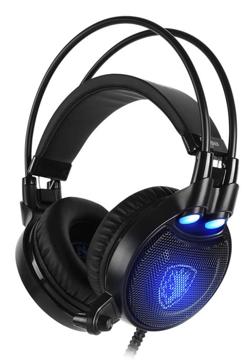 SADES Gaming Headset Octopus Plus με δόνηση, multiplatform, USB, μαύρο - SADES 34673