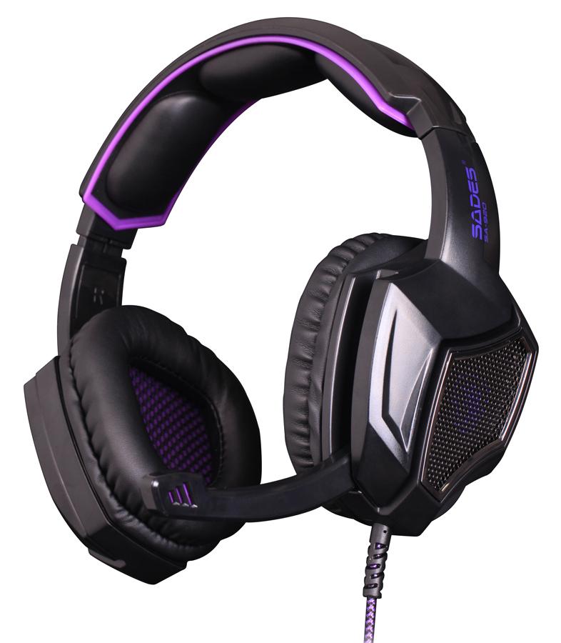 SADES gaming headset SA-920, 3.5mm, 40mm, μαύρο - SADES 38040