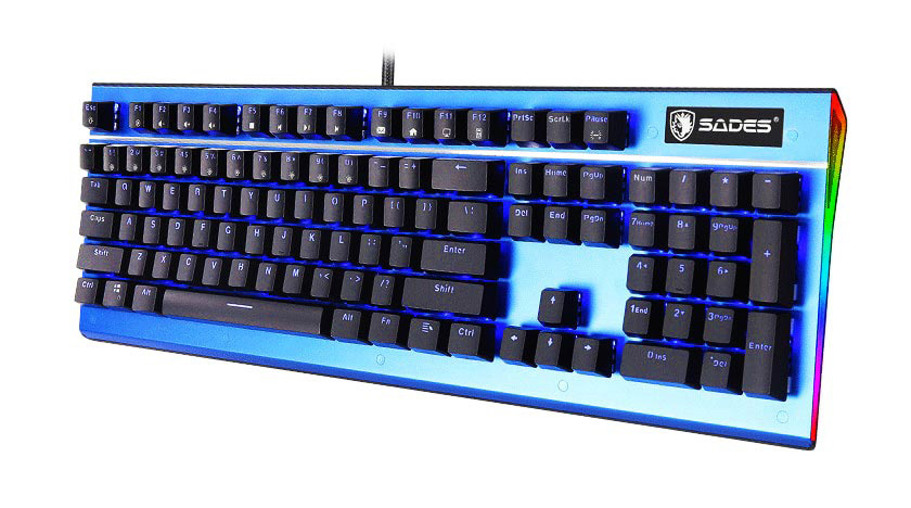 SADES Ενσύρματο πληκτρολόγιο K13 Sickle, μηχανικό, RGB Side, Red switch - SADES 23649
