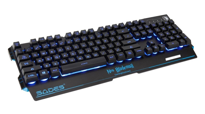 SADES Gaming Keyboard Neo Blademail, RGB Backlit, Membrane - SADES 17705