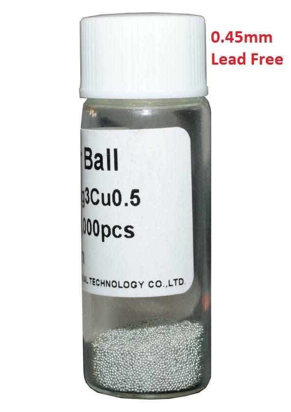 Solder Balls 0.45mm, Lead Free, 25k - UNBRANDED 7031
