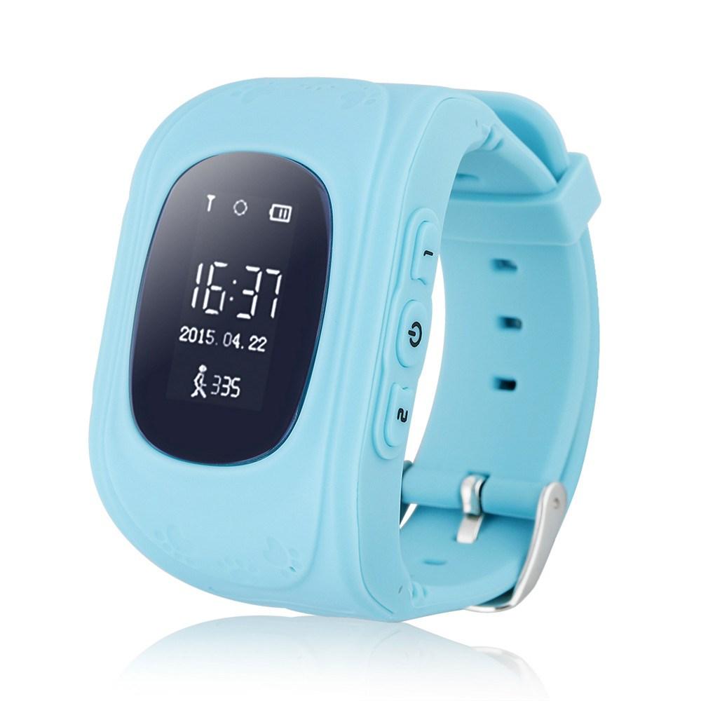 GPS Παιδικό ρολόι χειρός GW300, SOS-Βηματομετρητής, μπλε - UNBRANDED 22420