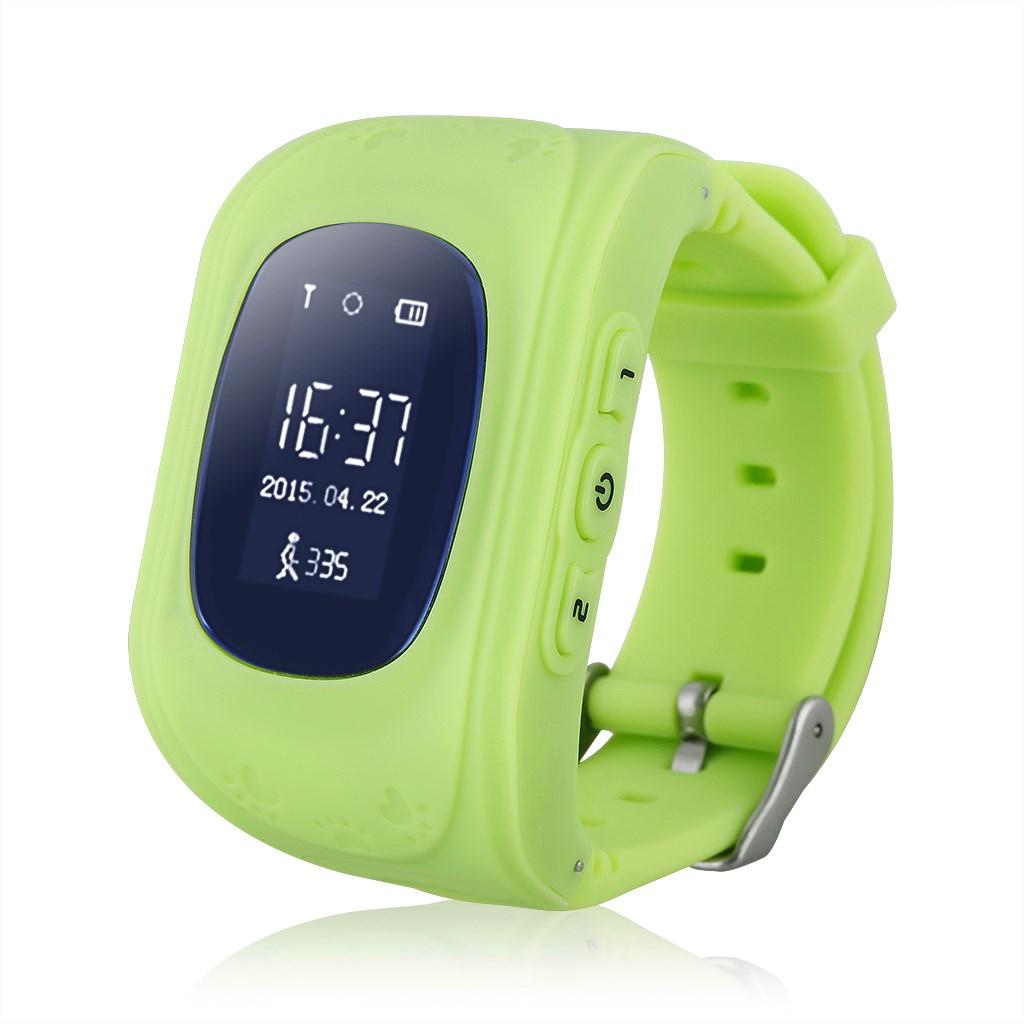 GPS Παιδικό ρολόι χειρός GW300, SOS-Βηματομετρητής, πράσινο - UNBRANDED 22422
