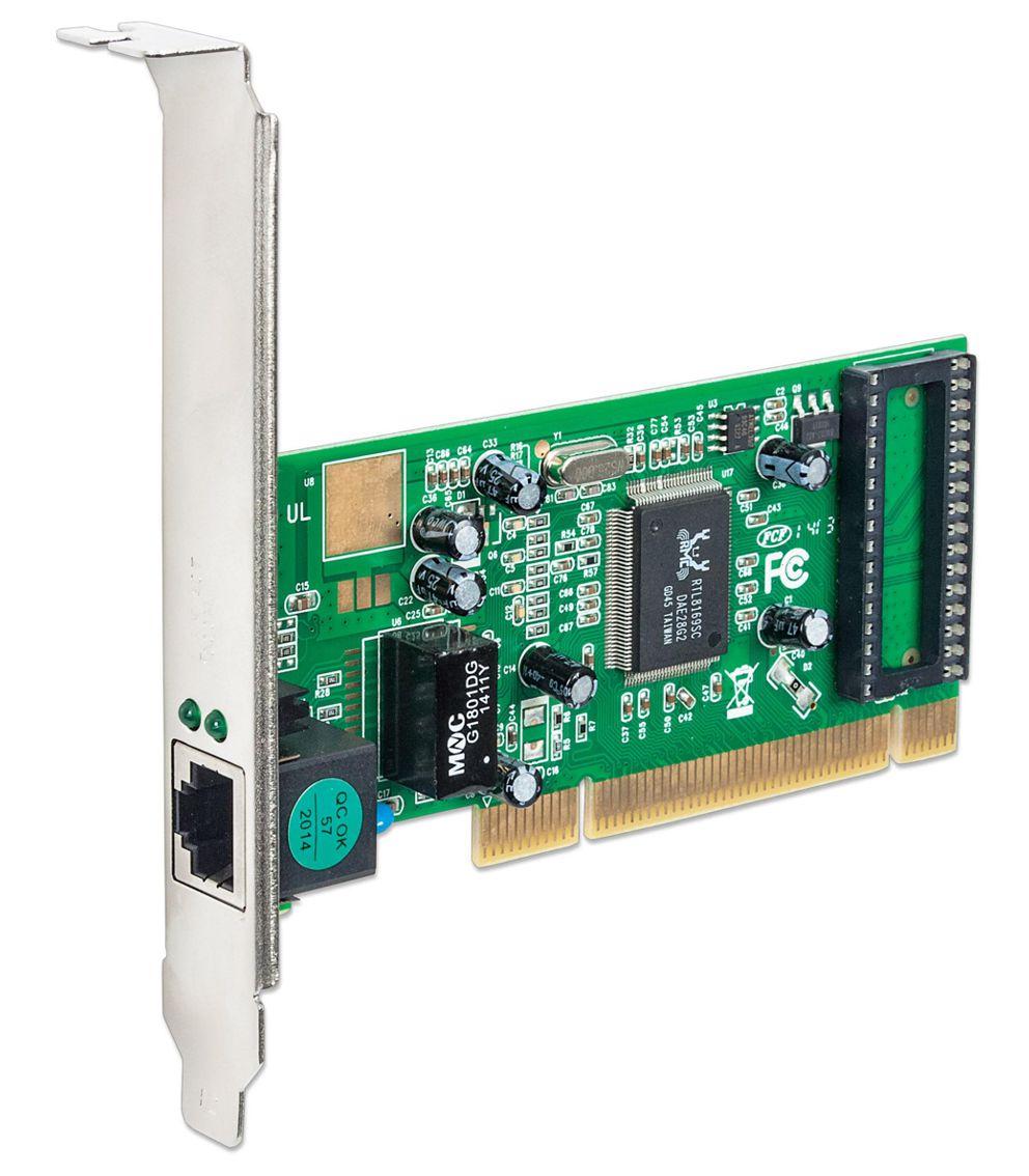 POWERTECH Κάρτα Επέκτασης PCI to LAN 10/100/1000, Chipset RTL8169SC - POWERTECH 8072