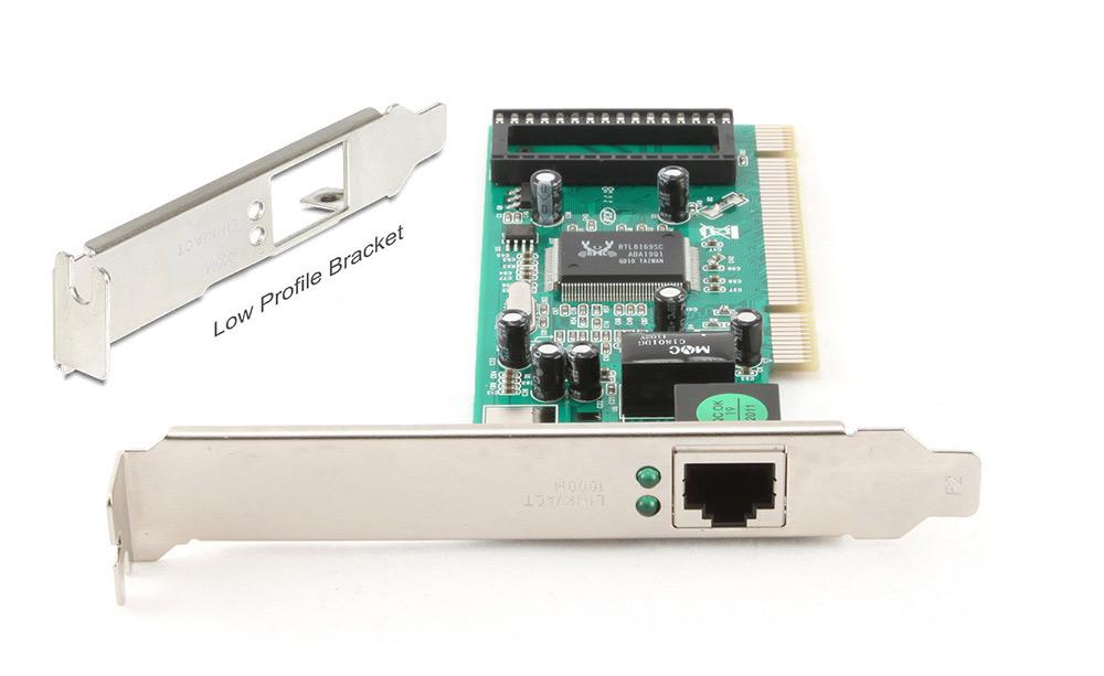 POWERTECH Κάρτα Επέκτασης PCI σε Gigabit LAN, RTL8169SC, Low Profile - POWERTECH 11459