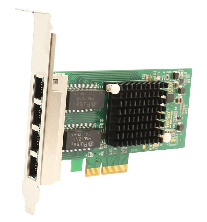 POWERTECH Κάρτα Επέκτασης PCI-e to 4x LAN 10/100/1000, Chip Intel i350 - POWERTECH 22034