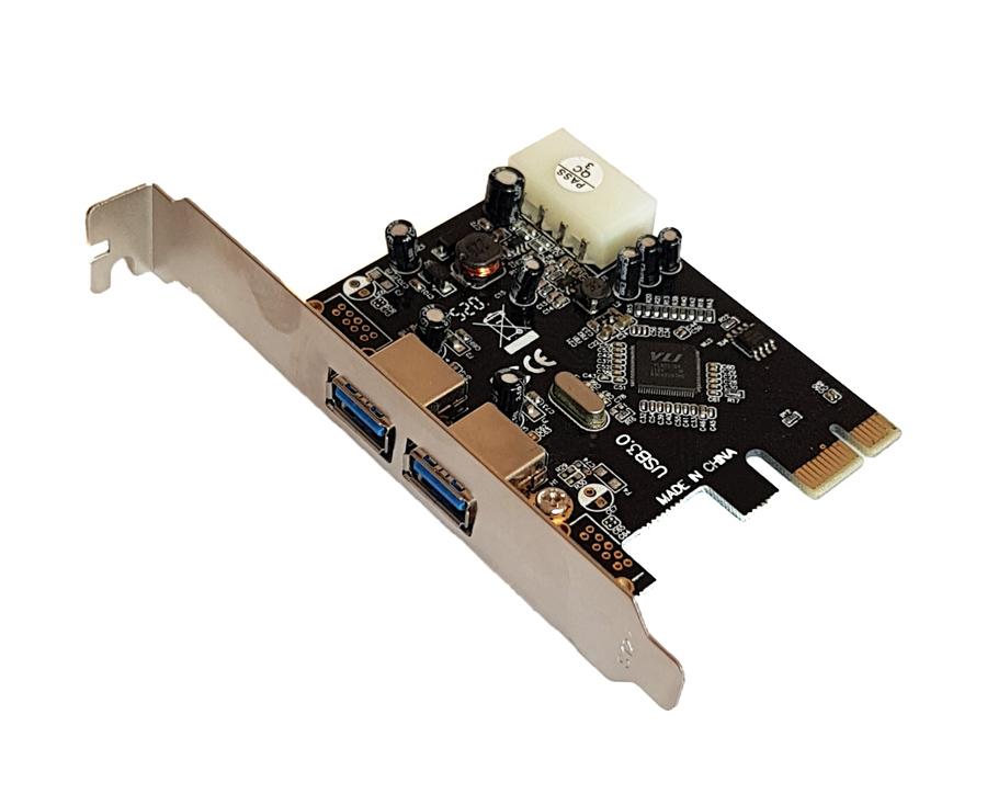 POWERTECH Κάρτα Επέκτασης PCI-e to USB 3.0, 2 ports, Chipset VL805 - POWERTECH 22035