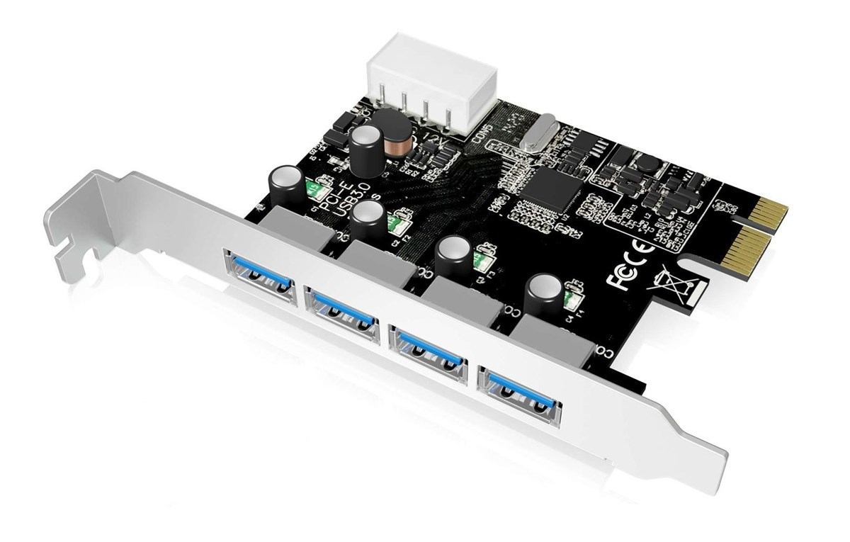 POWERTECH Κάρτα Επέκτασης PCI-e σε USB 3.0, 4 θύρες, Chipset VL805 - POWERTECH 24667