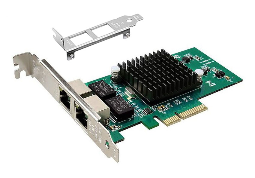 POWERTECH Κάρτα Επέκτασης PCI-e σε 2x LAN, Chip Intel 82576 - POWERTECH 24671