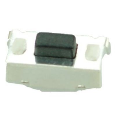SMD Button - SMD Button, Nickel, Silver/Black - UNBRANDED 10007