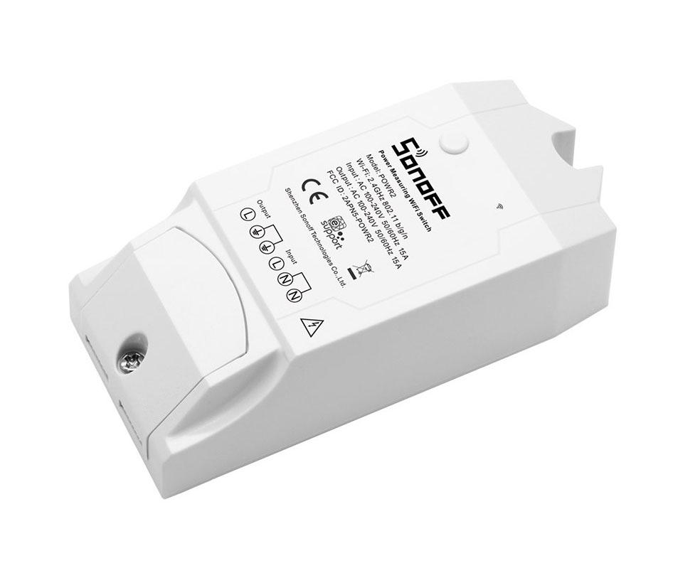 SONOFF Smart Διακόπτης παρακολούθησης ισχύος POW R2, Wi-Fi, 15A, λευκός - SONOFF 22862