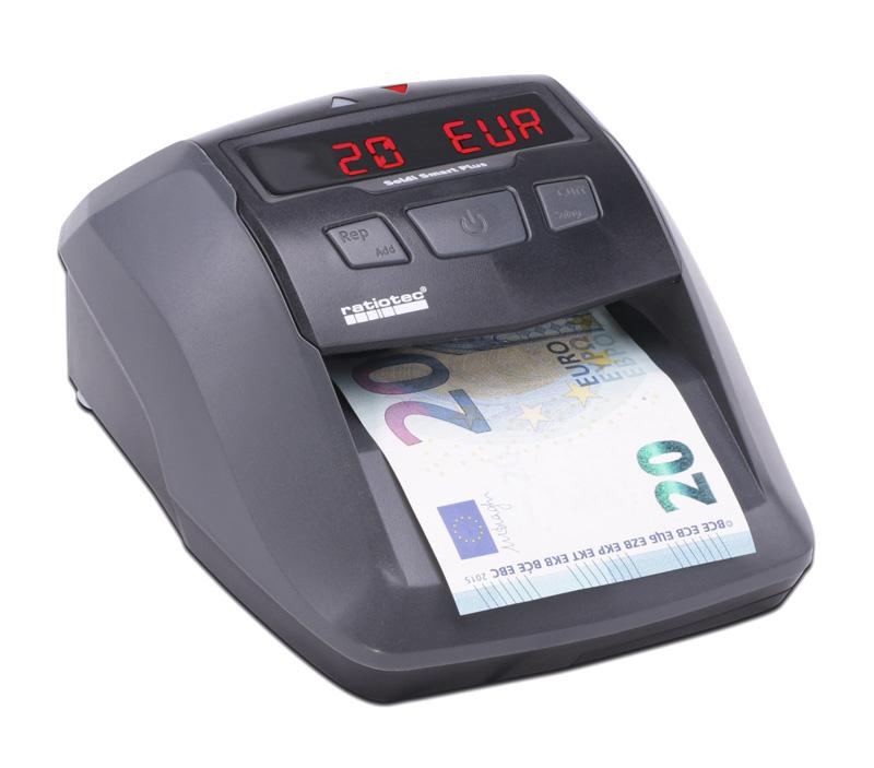 RATIOTEC Ανιχνευτής & καταμετρητής χαρτονομισμάτων Soldi Smart Plus SD - RATIOTEC 17285