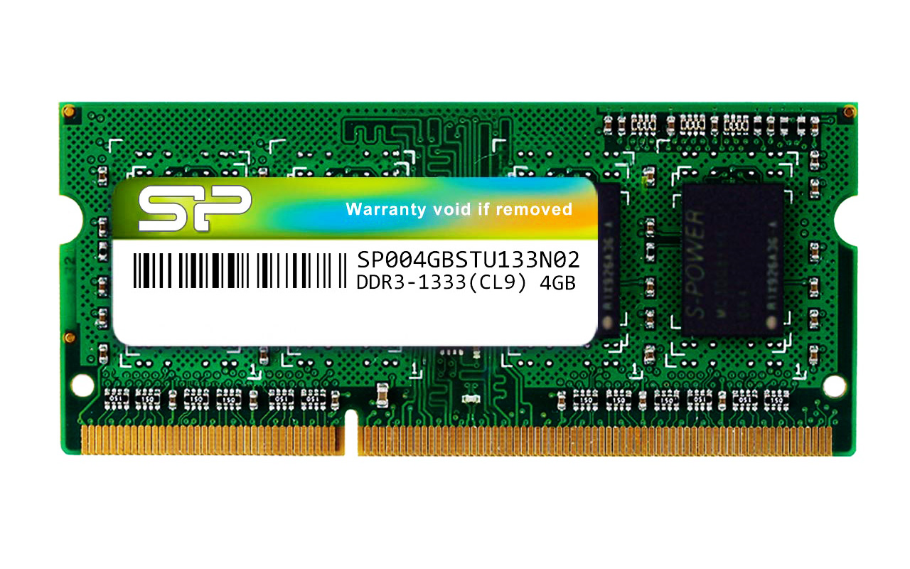 SILICON POWER Μνήμη RAM DDR3 SODimm, 4GB, 1333MHz, CL9 - SILICON POWER 23186