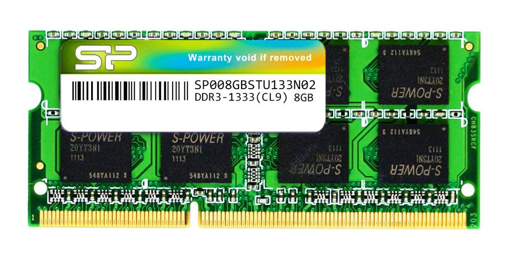 SILICON POWER Μνήμη RAM DDR3 SODimm, 8GB, 1333MHz, CL9 - SILICON POWER 23187
