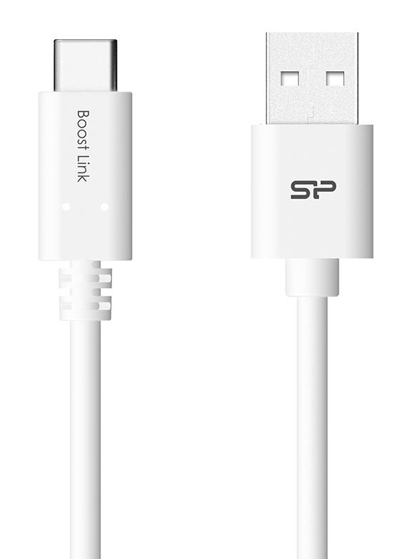 SILICON POWER καλώδιο USB σε USB Type-C LK10AC, 2.4A, QC 3.0, 1m, μαύρο - SILICON POWER 29777