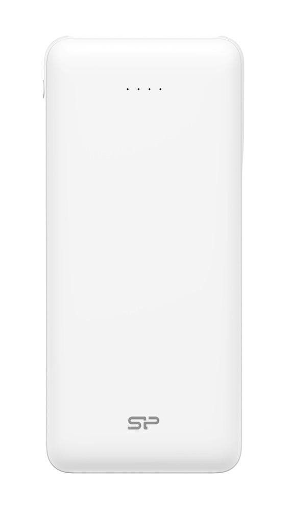 SILICON POWER Power Bank C200 20000mAh, 2x USB Output, White - SILICON POWER 24280