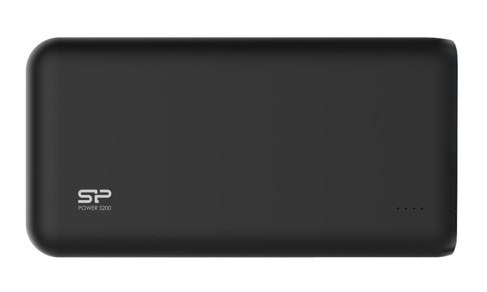 SILICON POWER Power Bank S200 20000mAh, 2x USB Output, Black - SILICON POWER 16634