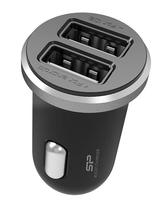 SILICON POWER φορτιστής αυτοκινήτου CC102P, 2x USB, 2.1A, μαύρος - SILICON POWER 29780