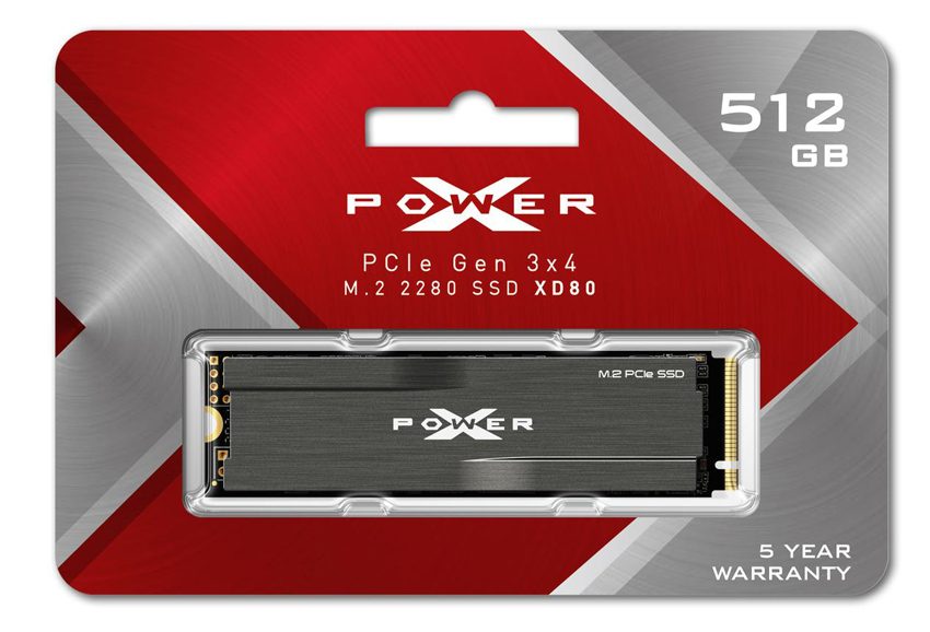 SILICON POWER SSD PCIe Gen3x4 M.2 2280 XD80, 512GB, 3.400-3.000MB/s - SILICON POWER 39727