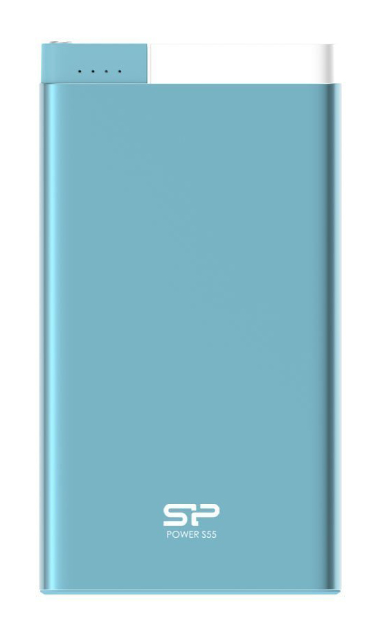 SILICON POWER Power Bank S55 5000mAh, USB, Micro/Lightning Input, Blue - SILICON POWER 16188